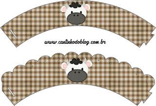 Wrappers para cupcakes de Divertida Vaquita.