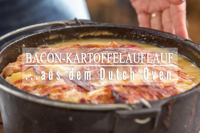 Bacon-Kartoffelauflauf aus dem Dutch-Oven  Outdoor Kitchen  Rezept Dutch Oven 01