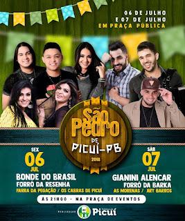 Prefeitura de Picuí realiza festa de São Pedro neste fim de semana