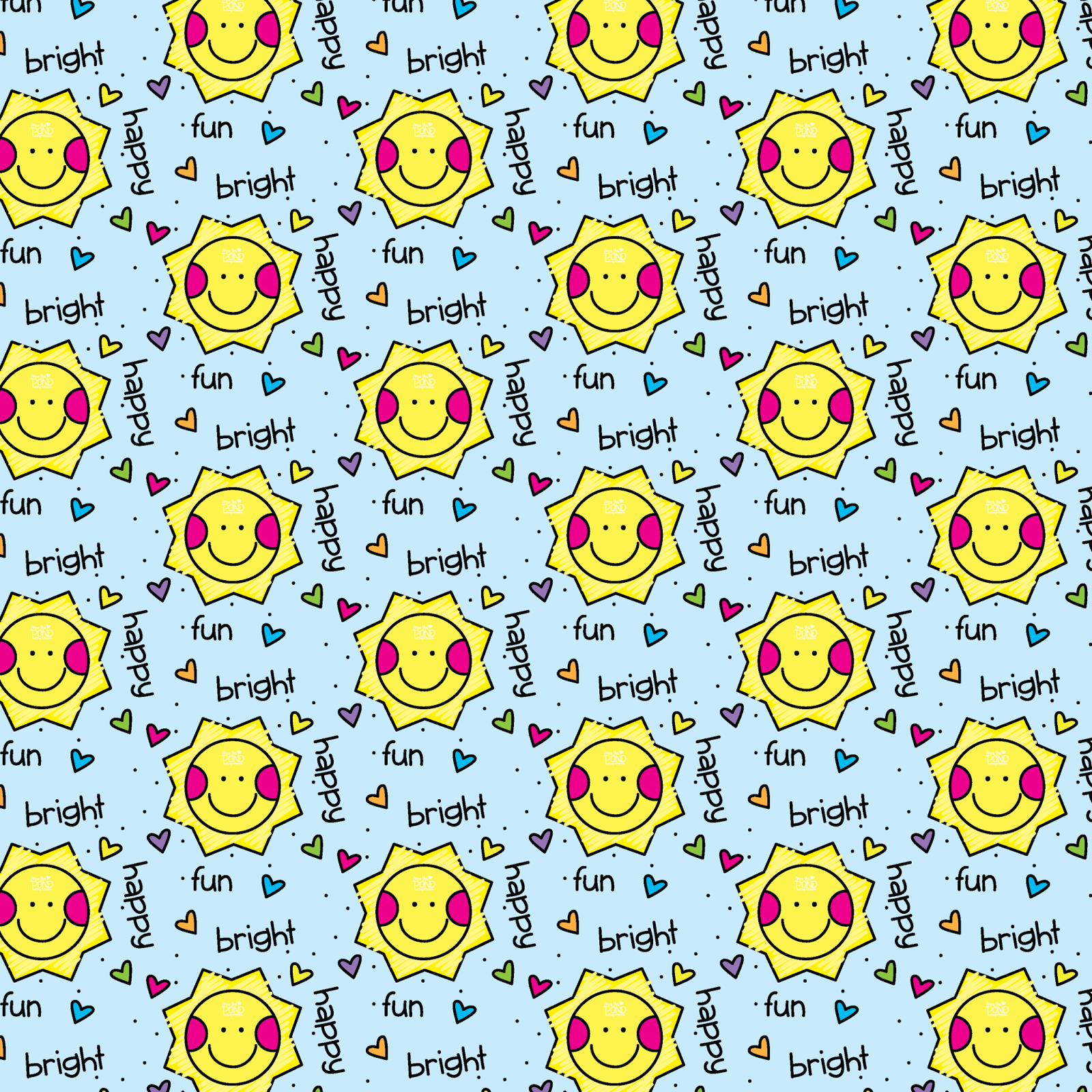 Fun Happy Bright Wallpaper From the Pond