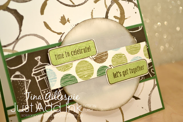 scissorspapercard, Stamping' Up!, Just Add Ink, Text Ya Later, Coffee Break DSP