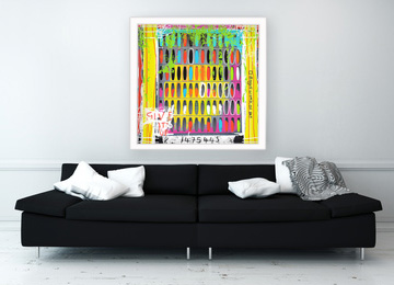 contemporary art, neo expressionist, a bogus work of art, modern art, urban art, art print, Sam Freek, framed print, art online,