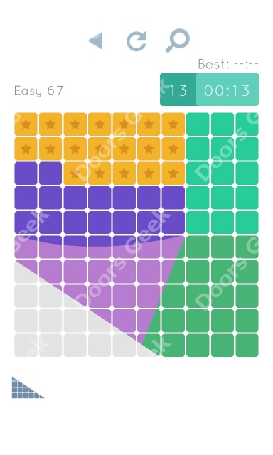 Cheats, Walkthrough for Blocks and Shapes Level 67