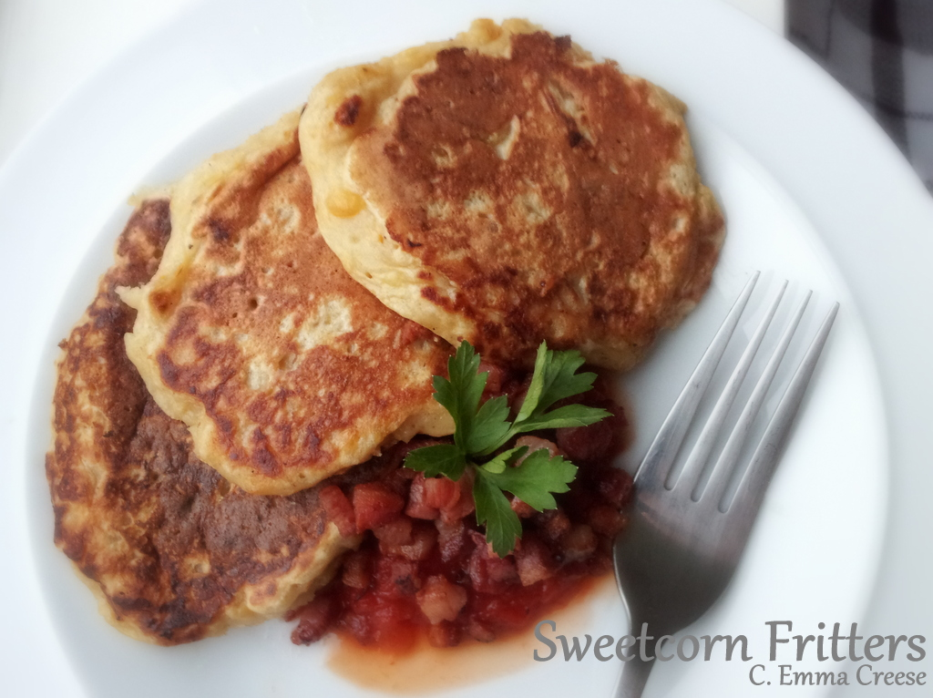 Summer brunch recipe sweetcorn fritters