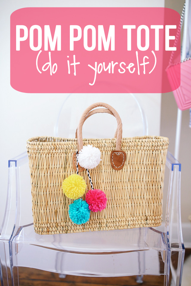 DIY pom pom tote - it costs less than $35!