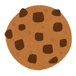 クッキーのイラスト(チョコチップ)