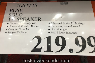 Deal for the Bose Solo 5 TV Speaker at Costco