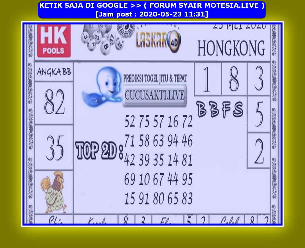 Kode syair Hongkong Sabtu 23 Mei 2020 168
