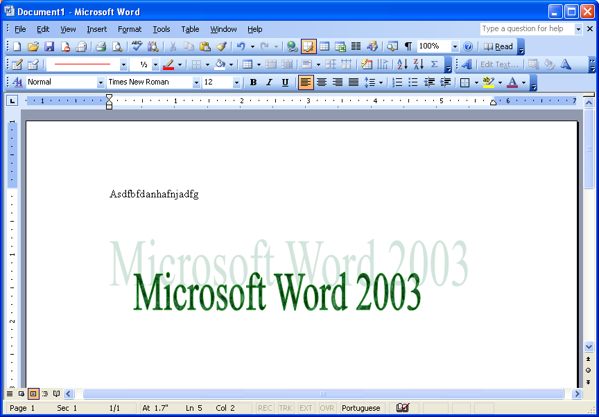Image Gallery microsoft word 2003