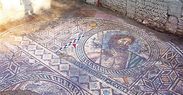 Poseidon mosaic discovered in central Turkey