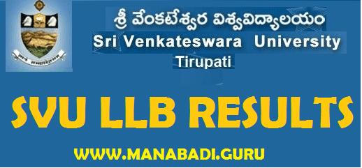 AP Results, SVU Results, Sri Venkateshwara University, LLB Results
