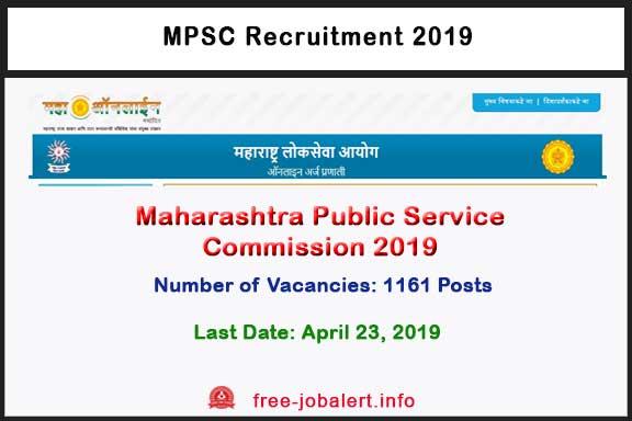 MPSC Recruitment 2019: 1161 Maharashtra Engineering Service Initial Examination 2019