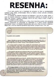 Textos informativos-resenha
