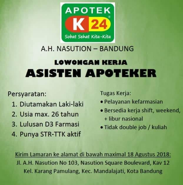 Lowongan Kerja Asisten Apoteker Bandung