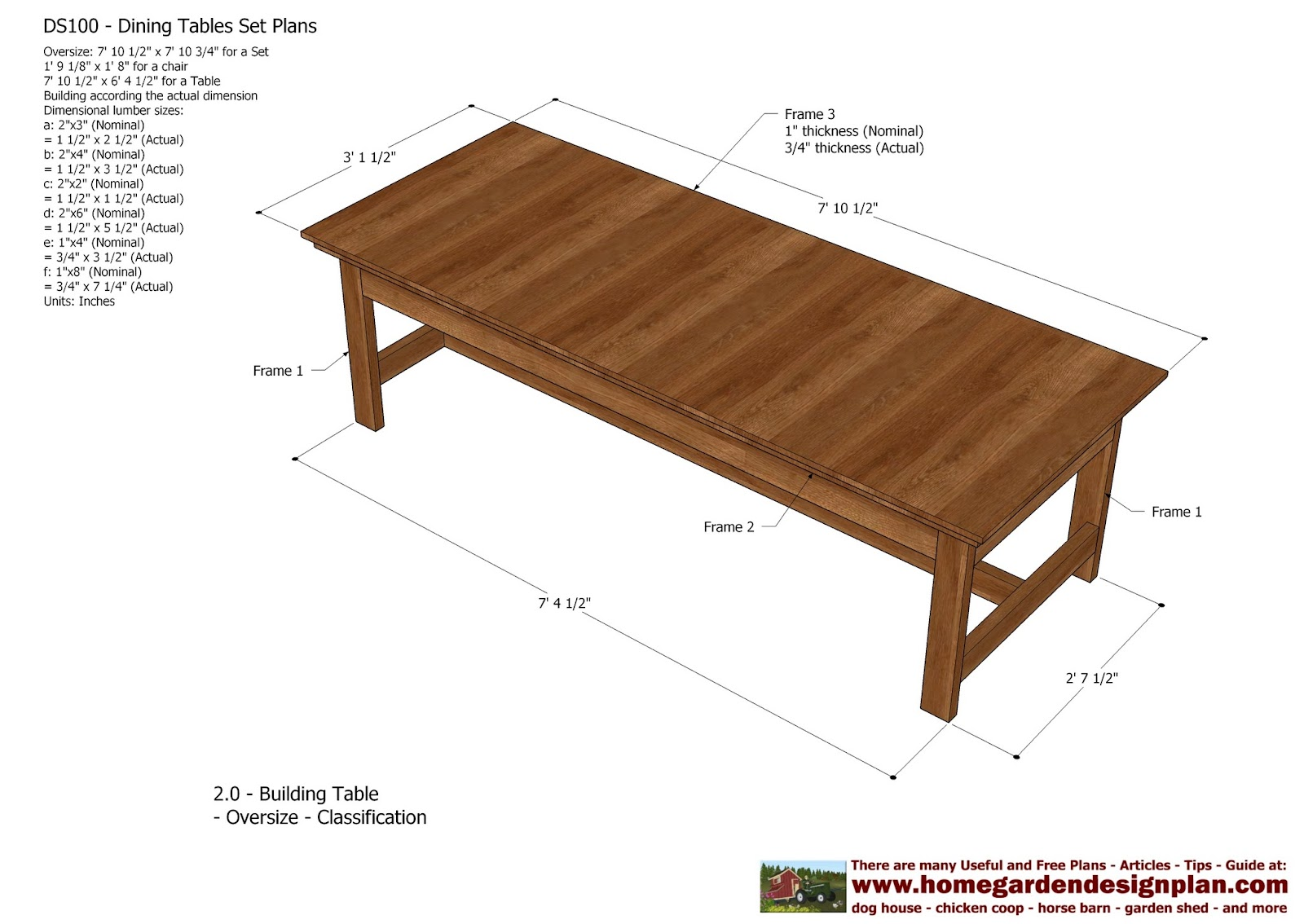 home garden plans: DS100 - Dining Table Set Plans ...
