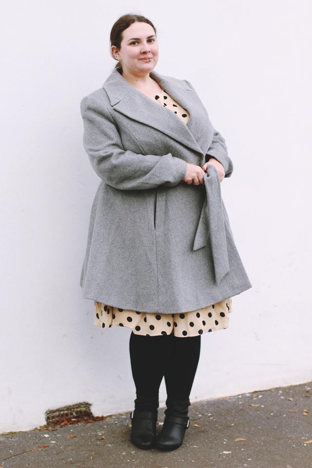 Grey skater coat
