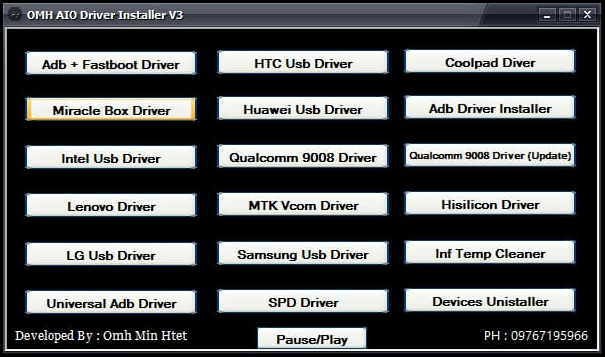 OMH Aio Driver Installer V3 New Version