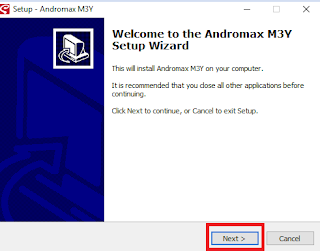 welcome to the andromax setup wizard