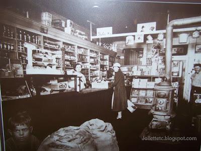 Lucille Davis running the Davis Store 1940s http://jollettetc.blogspot.com