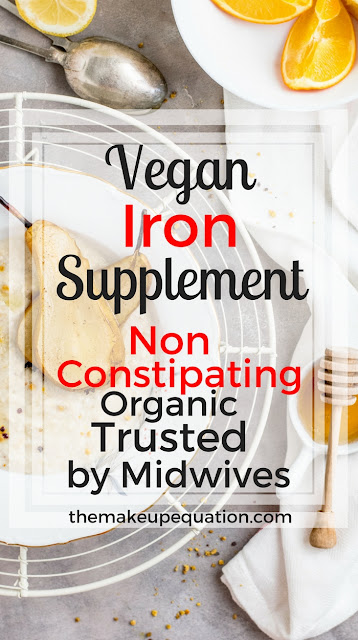 Organic, Vegan & Vegetarian Iron supplement that is not constipating. Trusted by midwives. Proven to work. #iron #ironsupplement #vitamins #anemia #sicklecellanemia #womenshealth #health #herbal #vegan #vegetarian