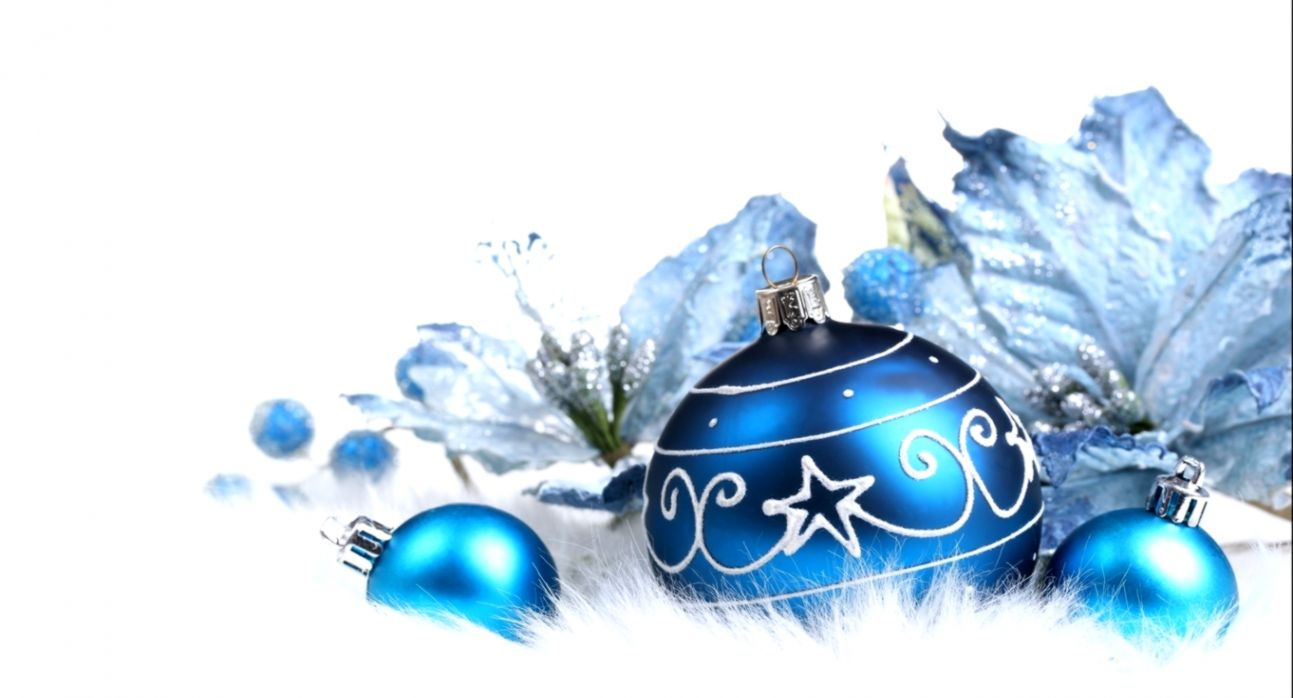 Christmas Decorations Blue Holliday