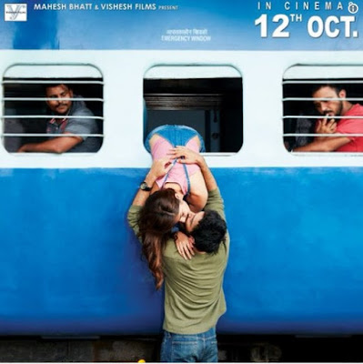 Movie 'Jalebi' poster: kissed by the window of the Train !
