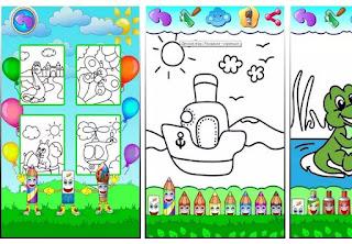 Game edukasi Anak Android PAUD TK SD - Menggambar mewarnai
