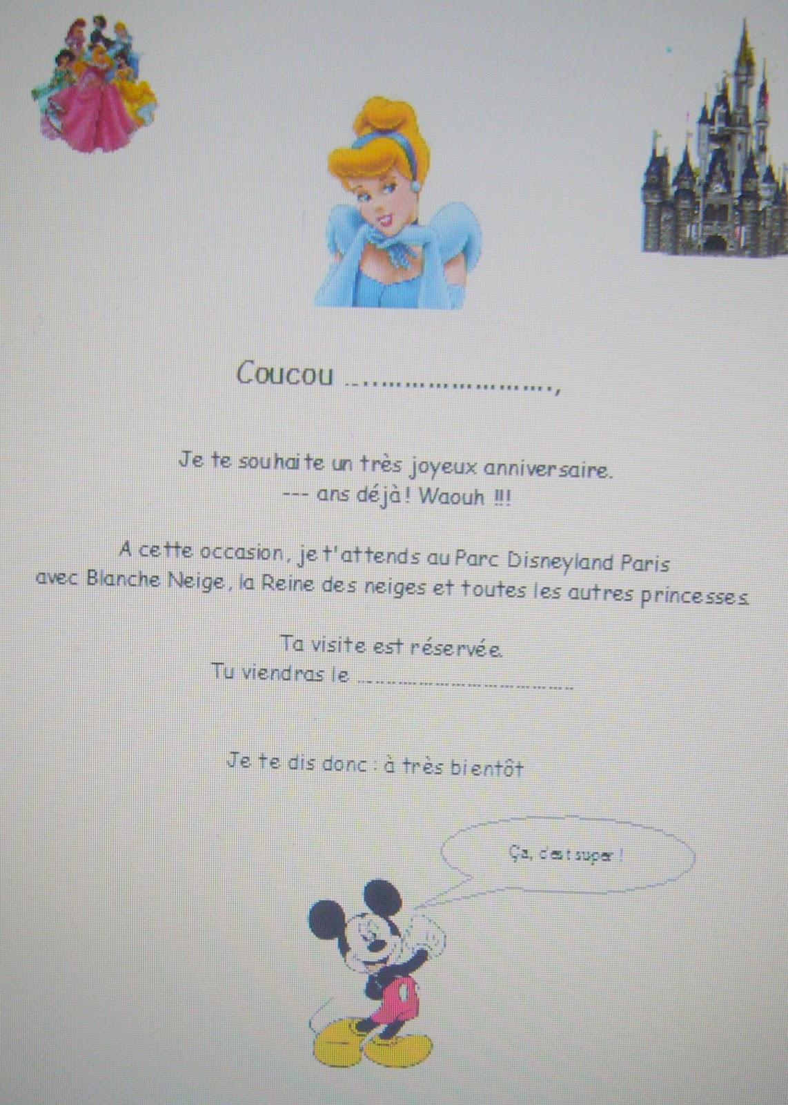 carte invitation disneyland a imprimer Les petits rois: Les gratuits
