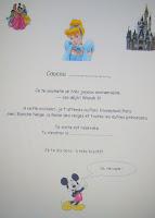 Lettre surprise Disneyland gratuite à imprimer
