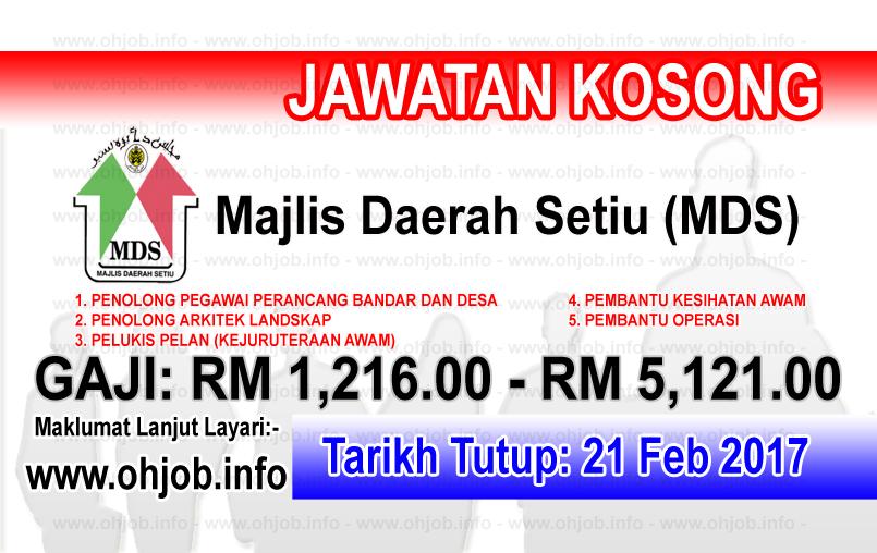 Jawatan Kerja Kosong Majlis Daerah Setiu (MDS) logo www.ohjob.info februari 2017