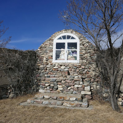 Prelate, Saskatchewan, church, grotto, cemetery, Blumenfeld