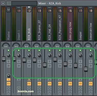 cara mixing sound di Fl studio mixer