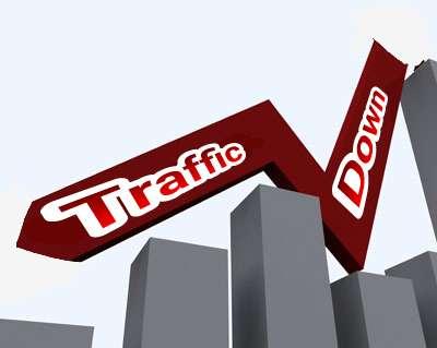traffic down
