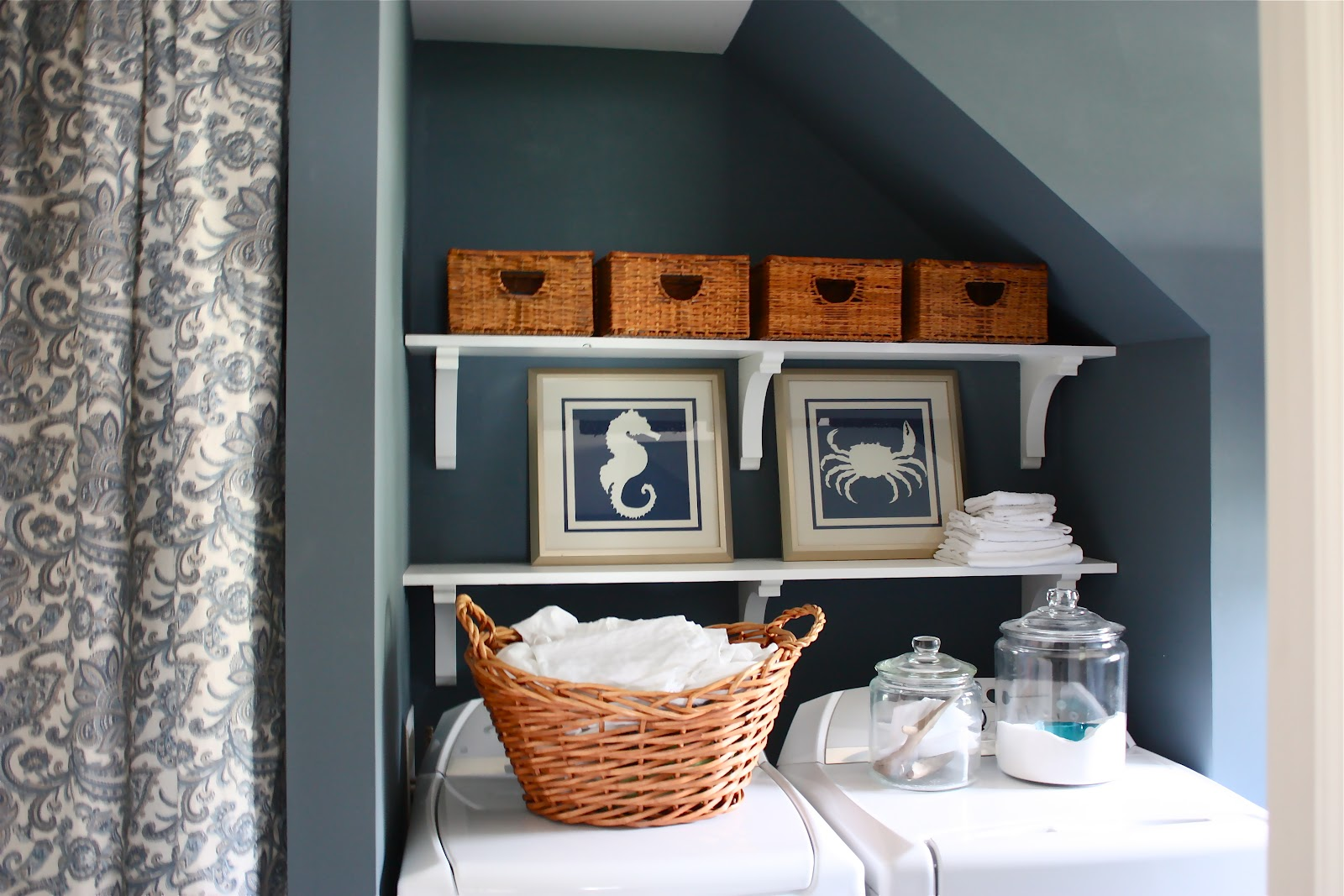 The Yellow Cape Cod: Our Home Tour~ The Laundry Room