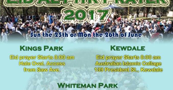 Eid date in Perth