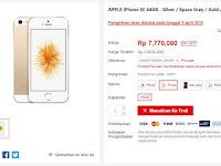 iPhone SE dijual 7 jutaan di Indonesia