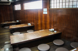 Japanese Style Table Setting in Nihonbashi Tei