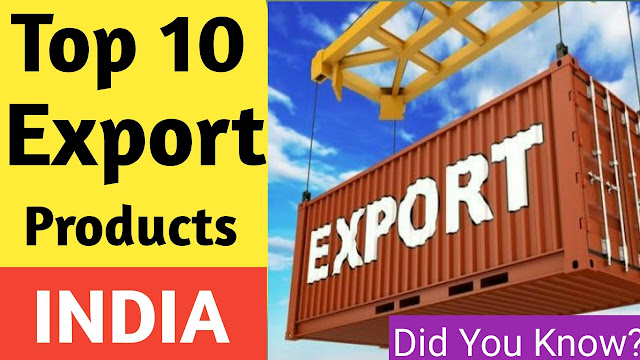 Top Export Products in India