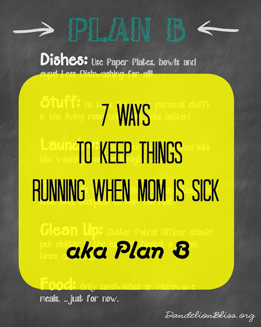 7 Ways to Keep Things Running When Mom is Sick or Plan B