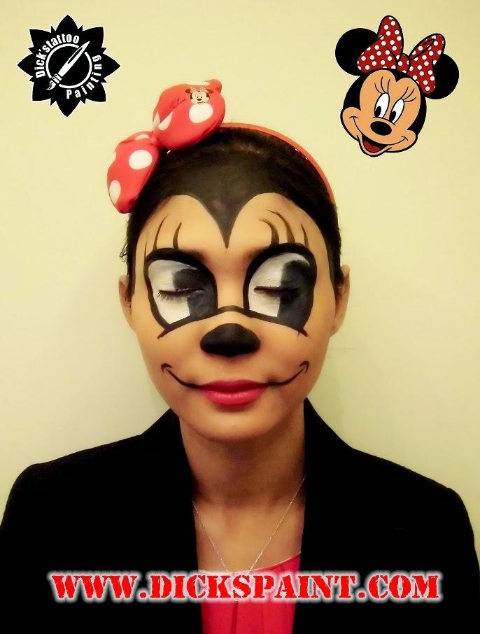 face painting jakarta cartoon minimouse