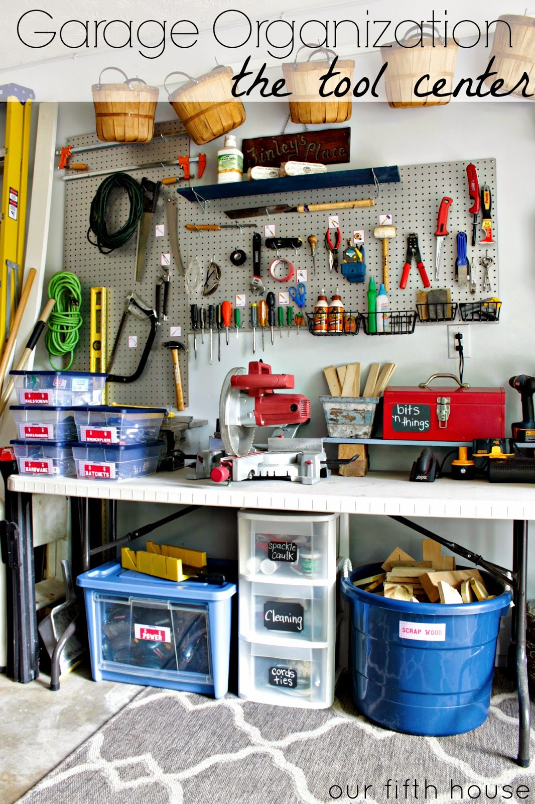 Organized Garage Tool Area