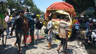 Dua Truck Terlibat Kecelakaan Di Jalur Kalitidu