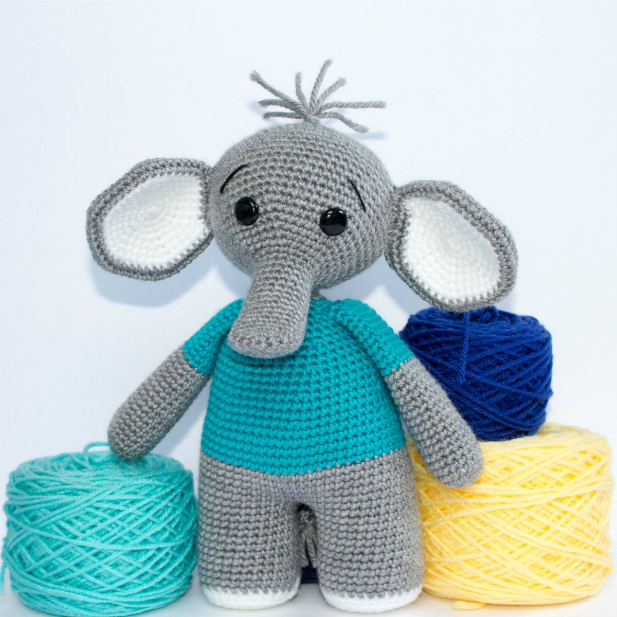 The Friendly Elephant Crochet A Long - thefriendlyredfox com