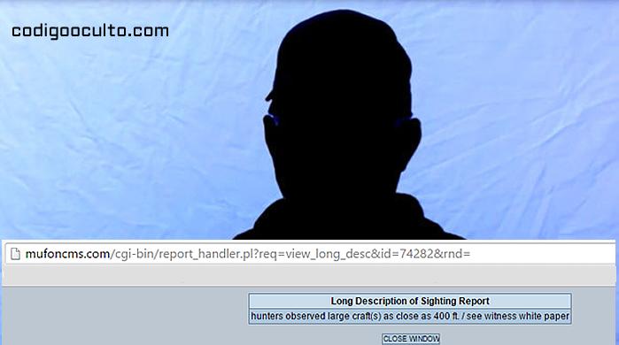 Captura de imagen del vídeo difundido por MUFON de la entrevista al testigo OVNI anónimo. Se trata de un científico del Departamento de Defensa, quien reveló a MUFON su encuentro cercano con un artefacto volador muy extraño.