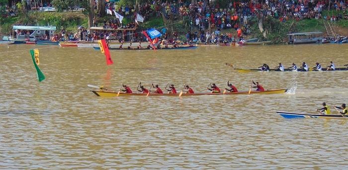 Ada 135 Peserta Tim Lomba Sampan di Sungai Sekadau