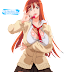 Tags: Render, Breasts press, Brown hair, Cleavage, Huge Breasts, Large Breasts, Long hair, Misono Miho, Orange hair, School uniform, Sei Yariman Gakuen Enkou Nikki, Skirt, Stockings, Thigh Highs, Tongue