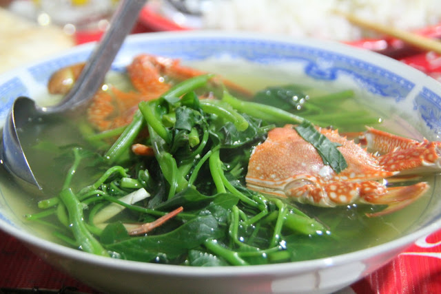 Water spinach soup