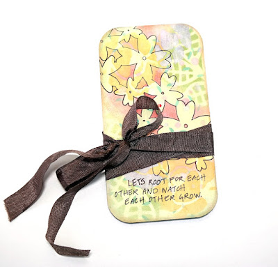 Grow Floral Mixed Media Board by Dana Tatar for Tando Creative