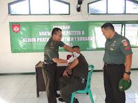 Prajurit dan ASN Kodim 0735, Lakukan Vaksin Hepatitis Lanjutan