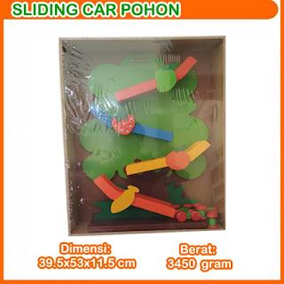 Sliding Car Pohon Mainan Kayuku